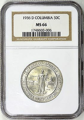 1936-D Columbia Half Dollar MS66 NGC Silver Commemorative  ... 8,009 Minted