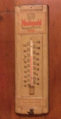 Antique Cincinnati Hudepohl Brewing Company Thermometer Beer Sign Advertising