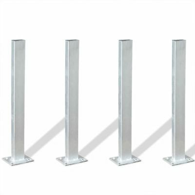 4 pcs Garden Fence Pergolas Rose Arch Post Support Foot Base Anchor 40 cm Steel