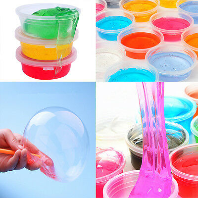 NEW 1piece Non-toxic Blowing Bubbles Crystal Mud Clay Can Draw Slime Funny Toys