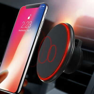 Qi Wireless Car Charger Magnetic Air Vent Mount Phone Holder Stand For Samsung