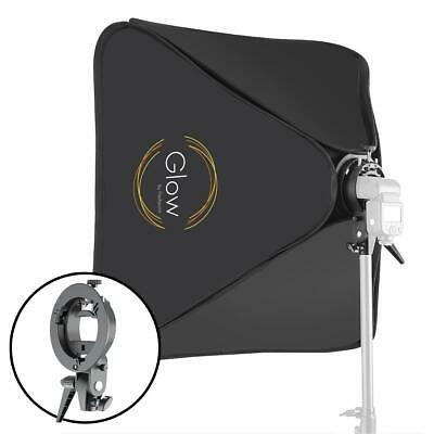 "Glow 31 x 31"" Quick Softbox with Shoe Mount S-Type Flash Bracket (80x80cm)"
