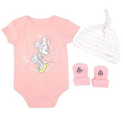 Disney 3 Piece Gift Set, Minnie,Pink, 0/6 Months