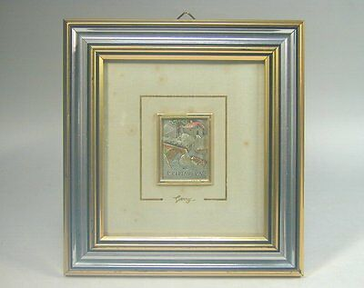 925 Sterling Silver Art #335 Sm Framed Embossed Country Cottage Picture by GERRY