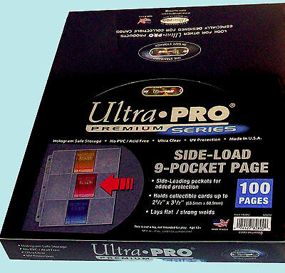 Ultra Pro Premium 3-Hole Side-Load 9 Pocket Strong Weld Pages (25 Count)