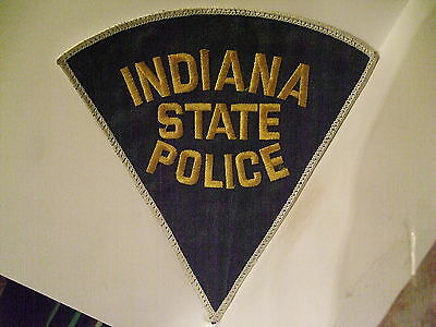 police patch  INDIANA STATE POLICE    LARGE PIE SHAPE