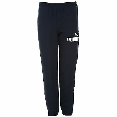 Puma Kids Boys Essential Woven Tracksuit Bottoms Elasticated Trousers Pants