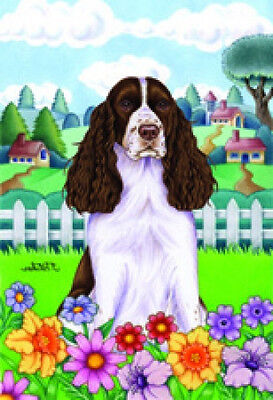 Garden Indoor/Outdoor Spring Flag (TP) - English Springer Spaniel 730311