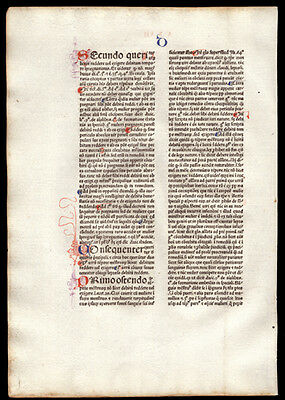 1477 Incunable Commentary on  Sentences of Peter Lombard Bishop of Paris