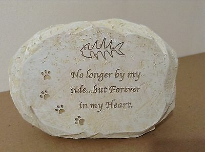 Cat Stone Effect Plaque - No Longer By My Side... But Forever In My Heart