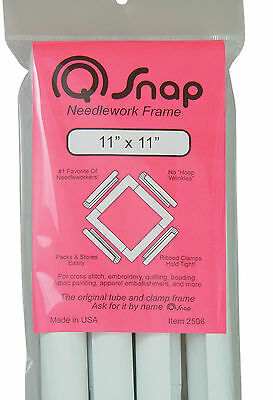 "Cross Stitch / Embroidery ~ New Q-Snap Needlecraft Frame 11"" x 11"" #QS111"