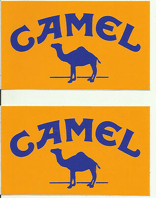 Camel Rally Off Road Lancia Vintage Sticker Decal x 2 Self Adhesive 10.5 x 6.3cm