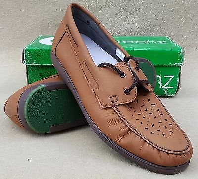 GREENZ Ladies Camille Tan Lace Up Bowls Bowlers Shoes UK 8 Ex Display (28)
