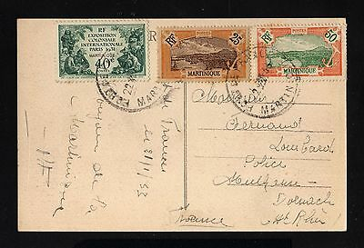 15865-MARTINIQUE-OLD POSTCARD FORT de FRANCE to FRANCE.1933.WWII.French colonies