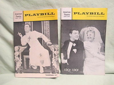 """lot of  2 American Theatre Playbills """"I Do I do"""" and Hadrian VII"""