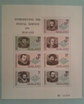 SEALAND bloc feuillet BF Personnages celebres MNH Neuf micronation