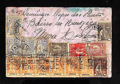 15943-ANGOLA-OLD COVER NOVA LISBOA to LISBOA (portugal)1931.WWII.Very RARE!!!
