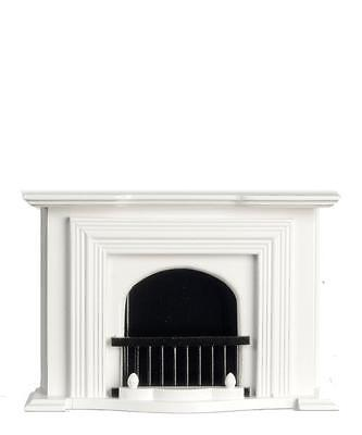 Miniature Dollhouse 1:12 Scale White Fireplace - T5001