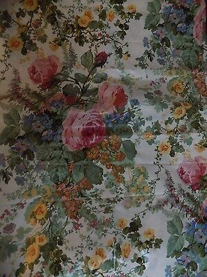 Sanderson Chintz Fabric 14Ft X 50'' Approx 'amelia' Rare Collectable Vtge  Chic
