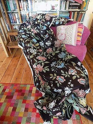 Sanderson Bird & Peony Glazed Cotton Chintz   Fabric 24Ft X 48'' Vintage Chic