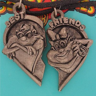 TAZ Tazmanian Devil GIRLFRIEND Necklace 2 Piece SET LOT WB LOONEY TUNES 5442