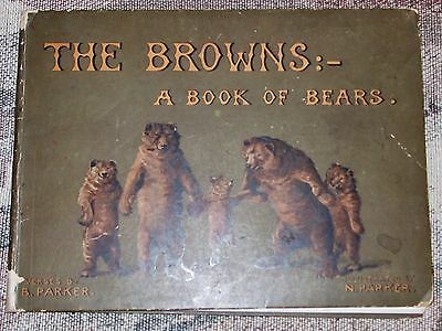 THE BROWNS A Book of Bears Vintage Children's