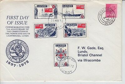 #14 Great Britain Lundy Island Puffin Stamp Trinity House FDC