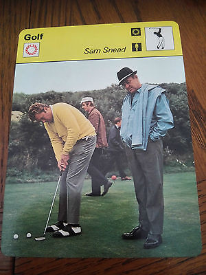 GOLF - SAM SNEAD /  MASTERS - Sportscaster Photo Fact Card