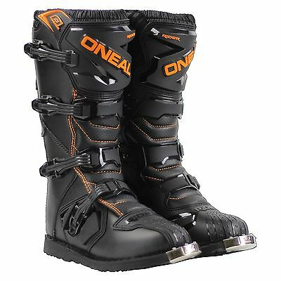 New tags oneal rider motorbike offroad boots black orange mens 7 8 9 10 11 12 13