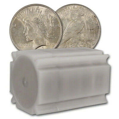 US Peace Silver Dollar - Roll of 20 coins - Almost Uncirculated - Random Date