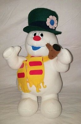 "Singing Frosty The Snowman 13"" Plush w/ Corncob Pipe"