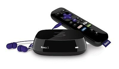 Roku 3 Streaming Media Player (4230R) with Voice Search NEW