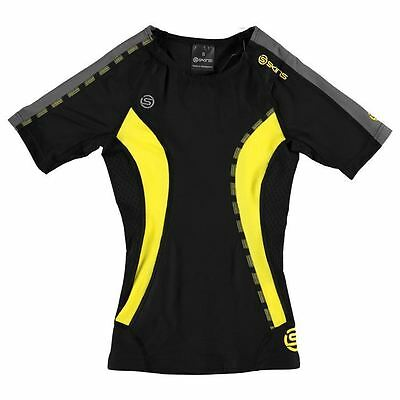 Skins Kids DNAmic Short Sleeve Junior Boys Sports Running Baselayer Top Clothing