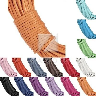 15M/20M Waxed Cotton Cord Thread String Thong Necklace Beading Jewelry 1x1mm BF