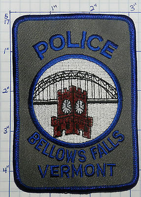 Vermont, Bellows Falls Police Dept Plastic Back Patch