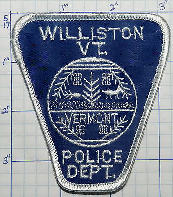 Vermont, Williston Police Dept Patch