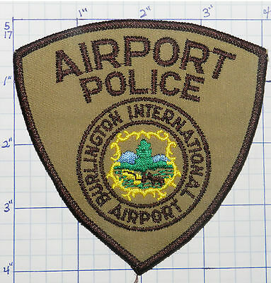 Vermont, Burlington International Airport Police Dept Patch