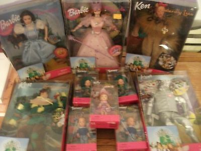 1999 Barbie The Wizard Of Oz Dolls Lot Of 10