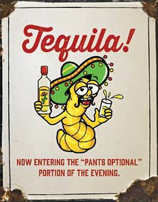 Mexican Tequila Tin Sign 13 x 16in