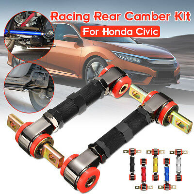 Adjustable Racing Rear Suspension Camber Control Arms Kit For Honda Civic