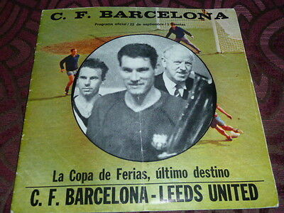 Rare 1971 Fairs Cup Final Play-Off Barcelona V Leeds