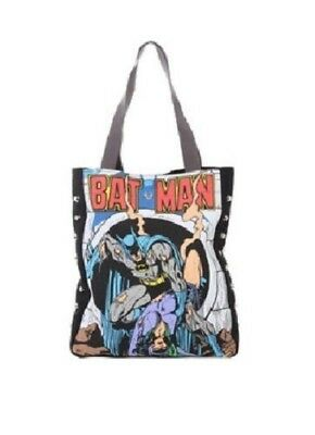 NEW DC Comics Batman Batgirl Stud Studded Canvas Shoulder Tote Bag Purse
