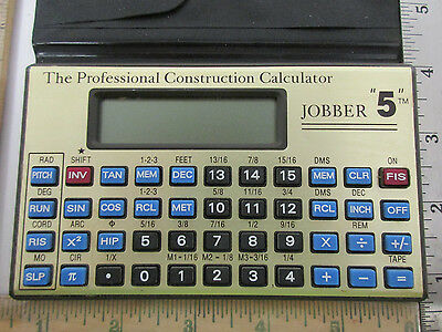 "The Professional Construction Calculator, In Case, Jobber ""5"" Tm (42617)"
