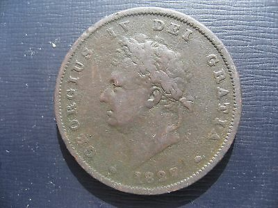 George IV Penny 1827. Very Rare