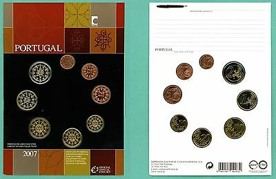2007 Portugal official annual coin set FDC Finish rare