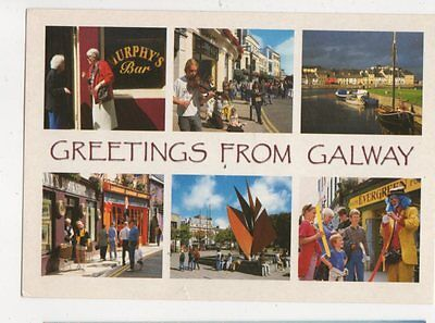 Greetings From Galway Postcard Ireland 583a