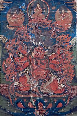 Fine Thangka of Red Hayagriva - China - Tibet - 18th Century