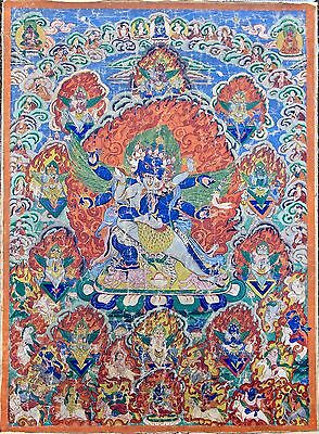 Fine Thangka of Heruka Vajrakila - China - Tibet - 19th Century