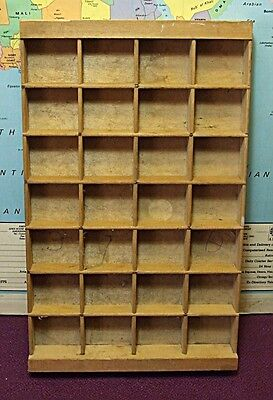 Vintage Wooden  Printer's Type Case.