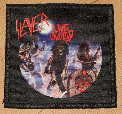 "SLAYER ""LIVE UNDEAD"" silk screen PATCH"